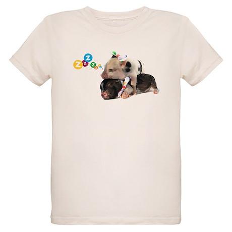 micro pigs sleeping Organic Kids T-Shirt