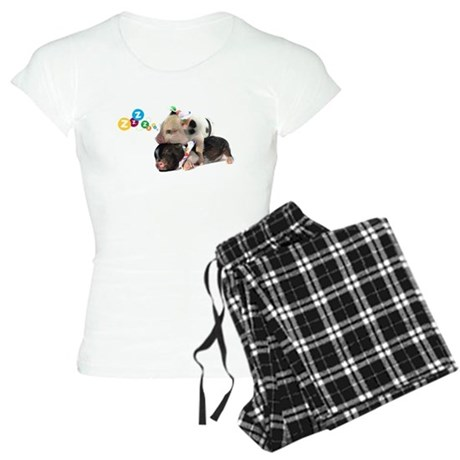 micro pigs sleeping Women's Light Pajamas