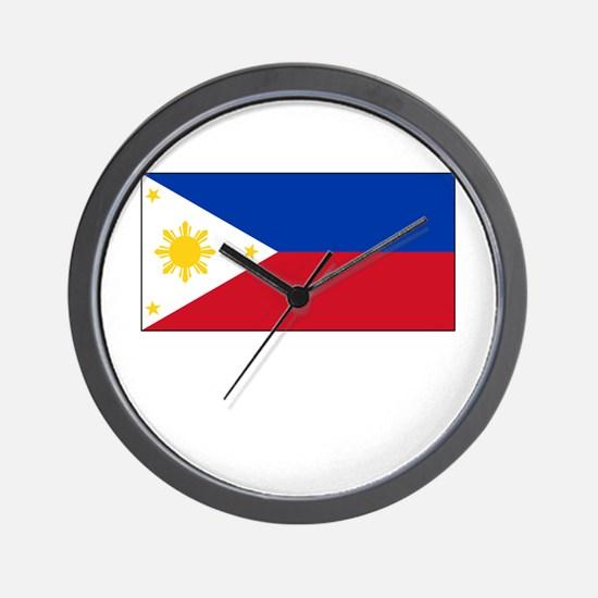 Philippines Flag Picture Wall Clock