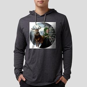 XmasGoddessRoundOR Mens Hooded Shirt
