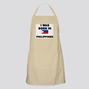 I Was Born In Philippines BBQ Apron