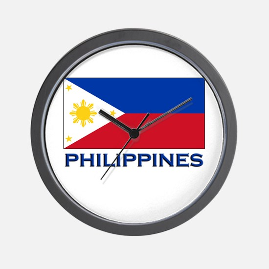 Philippines Flag Stuff Wall Clock