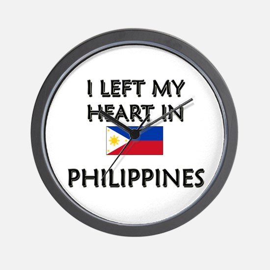 I Left My Heart In Philippines Wall Clock