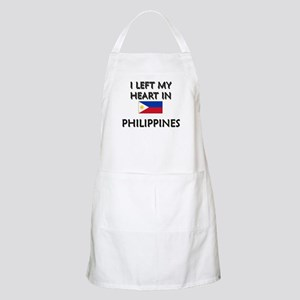 I Left My Heart In Philippines BBQ Apron
