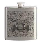 Wicked-grey skull bg Flask