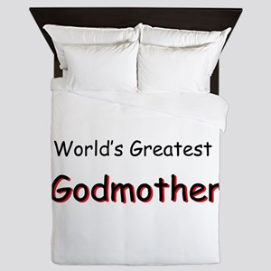 Greatest Godmother Queen Duvet