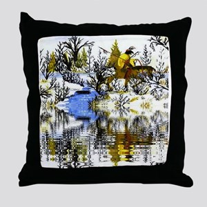 Indian Warrior Throw Pillow