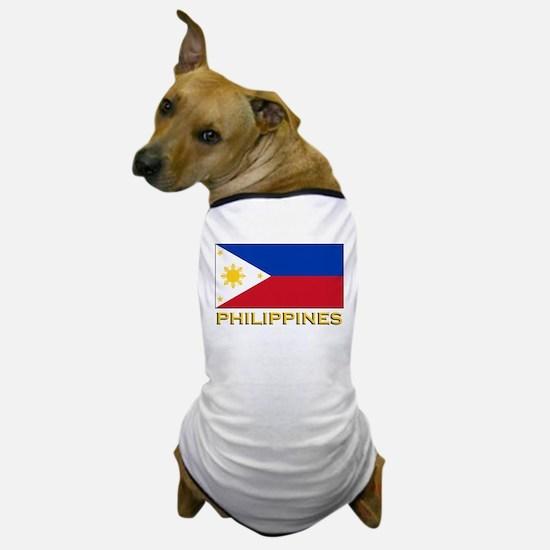 Philippines Flag Gear Dog T-Shirt