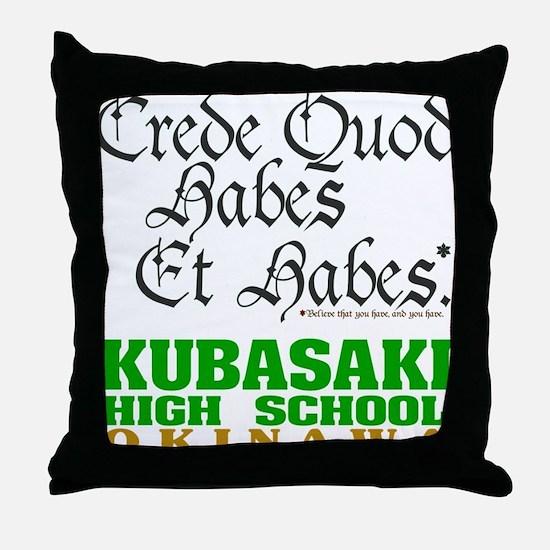 Motto Throw Pillow