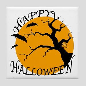 Happy Halloween 3 Tile Coaster