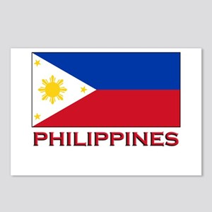 Philippines Flag Merchandise Postcards (Package of
