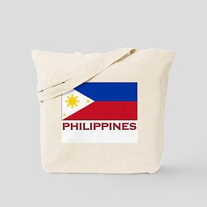 Philippines Flag Merchandise Tote Bag