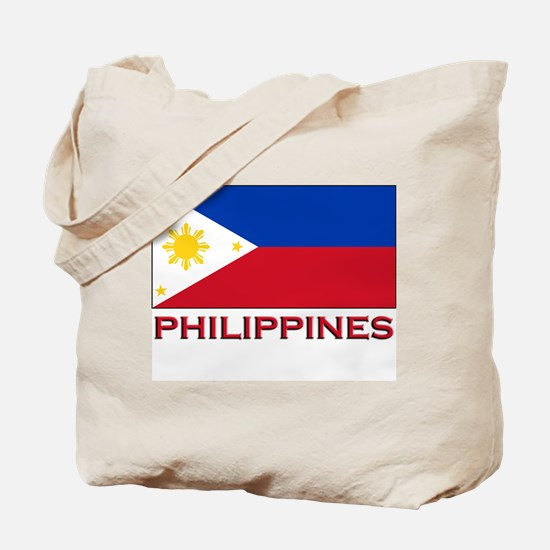 Philippines Flag Merchandise Tote Bag