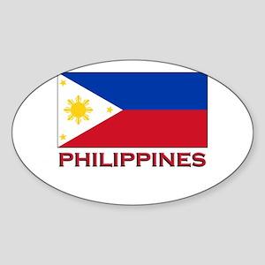 Philippines Flag Merchandise Oval Sticker