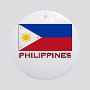 Philippines Flag Merchandise Ornament (Round)