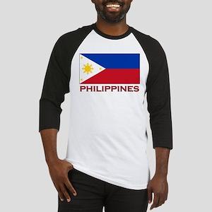 Philippines Flag Merchandise Baseball Jersey