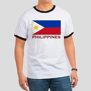 Philippines Flag Merchandise Ringer T