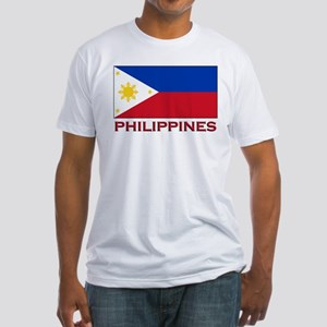 Philippines Flag Merchandise Fitted T-Shirt
