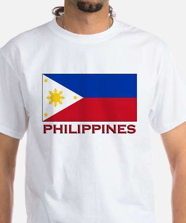 Philippines Flag Merchandise White T-Shirt