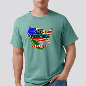 Blk_USA_Mexico_My_Countr Mens Comfort Colors Shirt