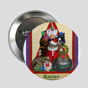 "Meowy Christmas 2.25"" Button"