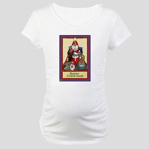 Meowy Christmas Maternity T-Shirt