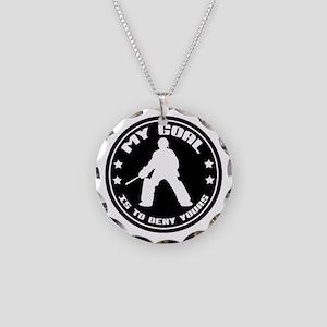 My Goal, Field Hockey Goalie Necklace Circle Charm
