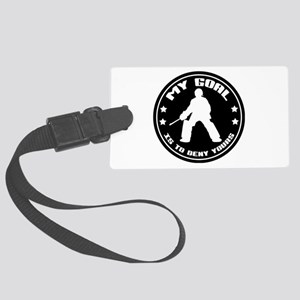 My Goal, Field Hockey Goalie Large Luggage Tag