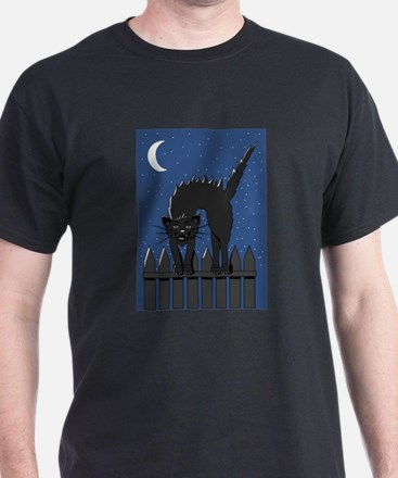 Spooked Black Cat T-Shirt