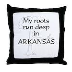 Arkansas Roots Throw Pillow