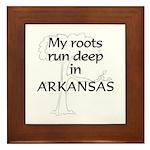 Arkansas Roots Framed Tile