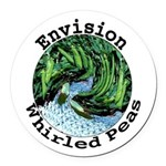 Envision Whirled Peas Round Car Magnet