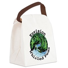 Envision Whirled Peas Canvas Lunch Bag