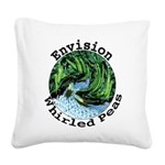 Envision Whirled Peas Square Canvas Pillow