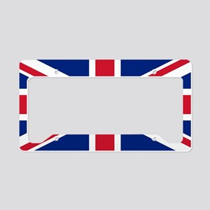 Union Jack License Plate Holder