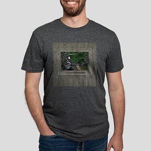 Old Cabin Window Bald Eagle Mens Tri-blend T-Shirt
