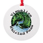 Visualize Whirled Peas Round Ornament