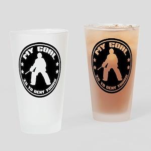 My Goal, Field Hockey Goalie Drinking Glass