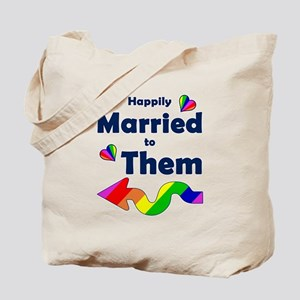 Married to Them Left Arrow Tote Bag
