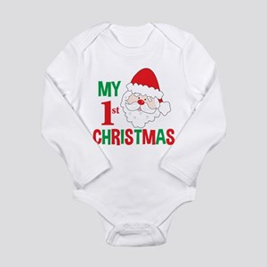 My 1st Christmas Santa Claus Long Sleeve Infant Bo