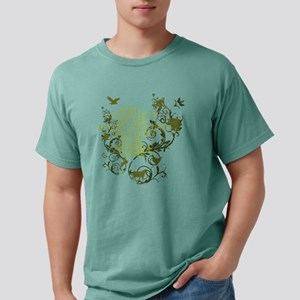buddha_noble_floral_anim Mens Comfort Colors Shirt