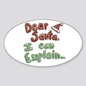 Dear Santa Sticker (Oval)