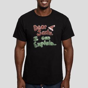 Dear Santa Men's Fitted T-Shirt (dark)