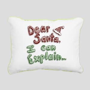 Dear Santa Rectangular Canvas Pillow