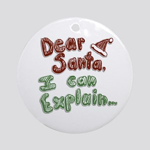 Dear Santa Ornament (Round)