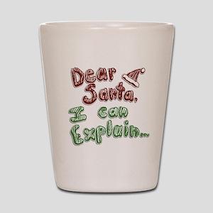 Dear Santa Shot Glass