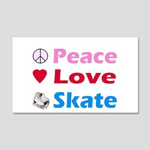 Peace Love Skate 20x12 Wall Decal