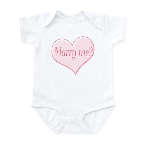 """""""Marry me?"""" Infant Bodysuit"""
