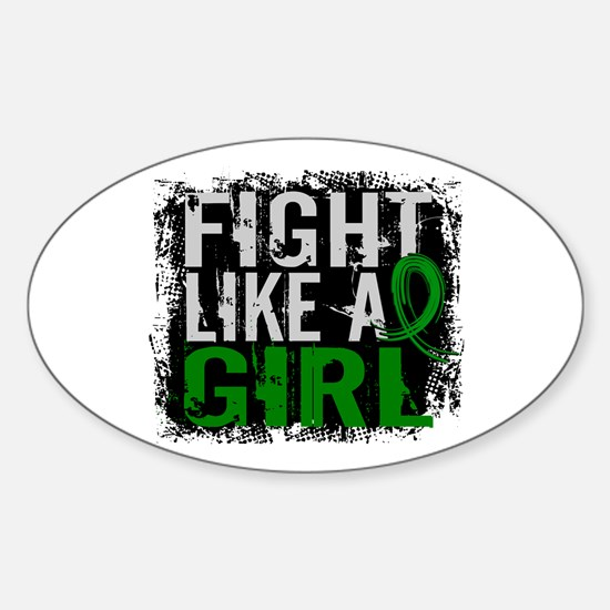 Licensed Fight Like a Girl 31.8 Kid Sticker (Oval)