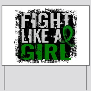 Licensed Fight Like a Girl 31.8 Kidney D Yard Sign
